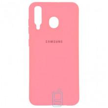 Чехол Silicone Case Full Samsung M30 2019 M305 розовый