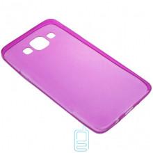 Чехол силиконовый цветной Samsung A3 2015 A300 розовый