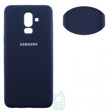 Чехол Silicone Cover Full Samsung J8 2018 J810 синий