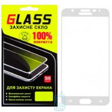 Защитное стекло Full Screen Samsung J7 Prime G610, G611 white Glass