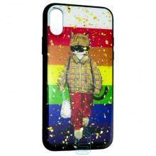 Чехол накладка Glue Case Apple iPhone XS Max Кот