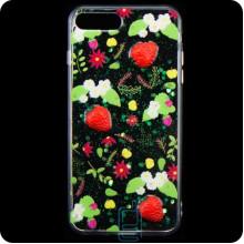 Чехол силиконовый 3D Apple iPhone 7 Plus, 8 Plus Клубника