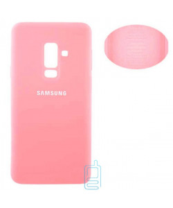 Чехол Silicone Cover Full Samsung A6 Plus 2018 A605 розовый
