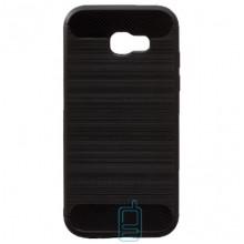 Чехол силиконовый Polished Carbon Samsung A7 2017 A720 черный
