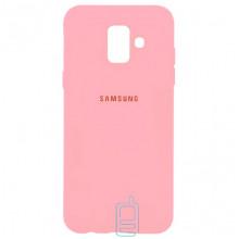 Чехол Silicone Case Full Samsung A6 2018 A600 розовый