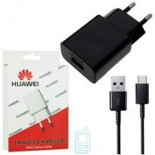 Сетевое зарядное устройство Huawei 2in1 1USB 2A micro-USB в уп. black