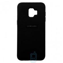 Чехол Silicone Case Full Samsung J2 Core 2018 J260 черный