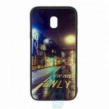 Чехол накладка Glass Case New Samsung J3 2017 J330 дорога