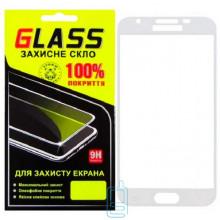 Защитное стекло Full Screen Samsung J3 2018 J337 white Glass