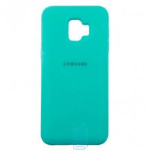 Чехол Silicone Case Full Samsung J2 2018 J250, J2 Pro 2018  бирюзовый