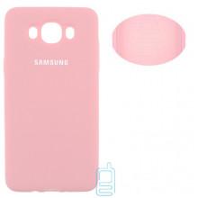 Чехол Silicone Cover Full Samsung J7 2016 J710 розовый