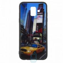 Чехол накладка Glass Case New Samsung A6 2018 A600 такси