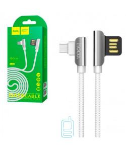 USB кабель Hoco U42 ″Exquisite steel″ Type-C 1.2m белый