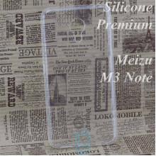 Чехол силиконовый Premium Meizu M3 Note прозрачный