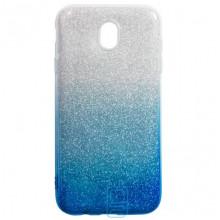 Чехол силиконовый Shine Samsung J7 2017 J730 градиент синий