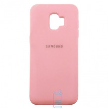 Чехол Silicone Case Full Samsung J2 Core 2018 J260 розовый