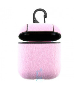 Футляр для наушников Airpod Wool розовый