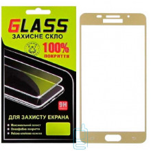 Защитное стекло Full Screen Samsung A5 2016 A510 gold Glass