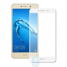 Защитное стекло Full Screen Huawei Y7 2017 white тех.пакет