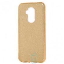 Чехол силиконовый Shine Huawei Mate 20 Lite золотистый