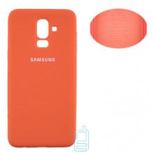 Чехол Silicone Cover Full Samsung J8 2018 J810 оранжевый