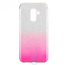 Чехол силиконовый Shine Samsung A6 Plus 2018 A605 градиент розовый