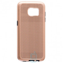 Чехол-накладка GINZZU Carbon X1 Samsung S7 Edge G935 золотистый