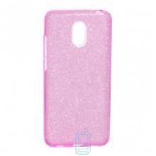 Чехол силиконовый Shine Meizu M6 розовый