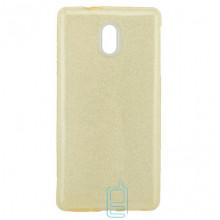 Чехол силиконовый Shine Nokia 3 золотистый