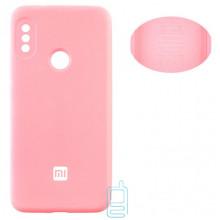 Чехол Silicone Cover Full Xiaomi Redmi 6 Pro, Mi A2 Lite розовый