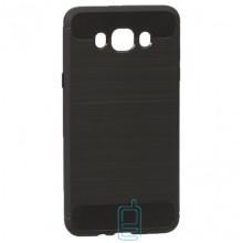 Чехол силиконовый Polished Carbon Samsung J7 2016 J710 черный