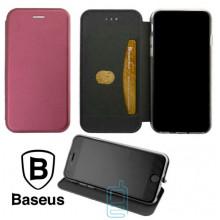 Чехол-книжка Baseus Premium Edge Xiaomi Mi 8 бордовый