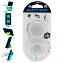 Держатель для телефона Popsocket ″Однотонный″ с подставкой белый