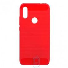 Чехол силиконовый Polished Carbon Xiaomi Redmi 7 красный