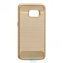 Чехол-накладка Motomo X6 Samsung S7 Edge G935 золотистый