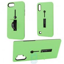 Чехол противоударный Metal Kickstand Soft Touch с держателем Huawei P Smart Z зеленый