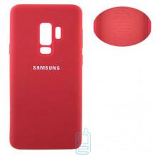 Чехол Silicone Cover Full Samsung S9 Plus G965 красный