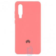 Чехол Silicone Case Full Huawei P30 розовый