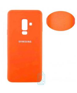 Чехол Silicone Cover Full Samsung A6 Plus 2018 A605 оранжевый