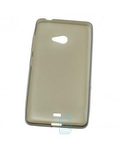 Чехол силиконовый Premium Nokia Lumia 540 затемненный