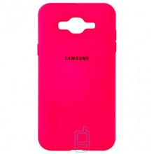 Чехол Silicone Case Full Samsung J2 Prime G532, G530 малиновый