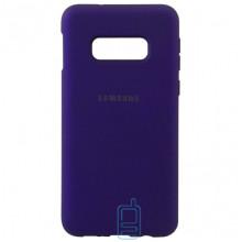 Чехол Silicone Case Full Samsung S10E G970 фиолетовый