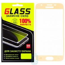 Защитное стекло Full Screen Samsung J3 2018 J337 gold Glass