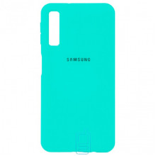 Чехол Silicone Case Full Samsung A7 2018 A750 бирюзовый