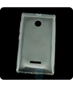 Чехол силиконовый Premium Nokia Lumia 532 прозрачный