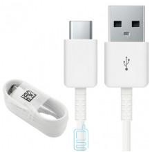USB Кабель Samsung S8 J184D/J814D Tyte-C high copy без упаковки белый