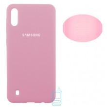 Чехол Silicone Cover Full Samsung M10 2019 M105 розовый