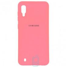 Чехол Silicone Case Full Samsung M10 2019 M105 розовый