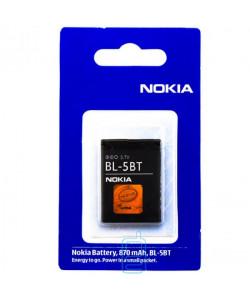 Аккумулятор Nokia BL-5BT 870 mAh BL-5BT 2600,7510,N75 AAA класс блистер