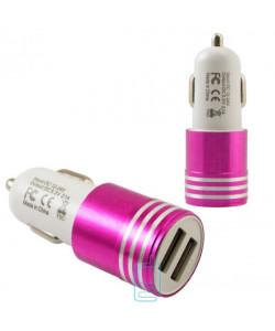 Автомобильное зарядное устройство Car-003 2USB 2.1A pink без коробки